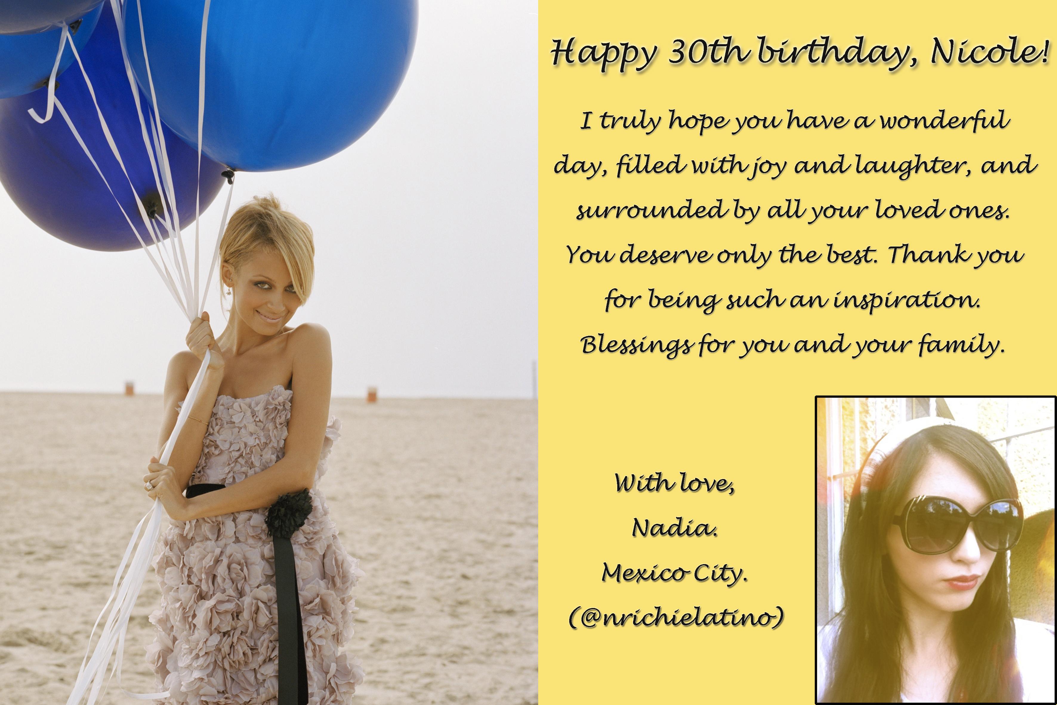 Happy 30th Birthday Nicole